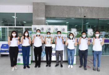 """EA กลุ่มช่วยกัน"""" มอบเครื่องกรองอากาศเพื่อกำจัดเชื้อโรคให้โรงพยาบาลบางละมุง"""